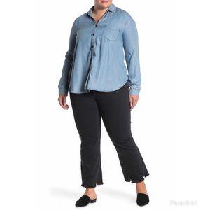 Madewell Cali Demi-Boot Chewed Hem Black Jeans